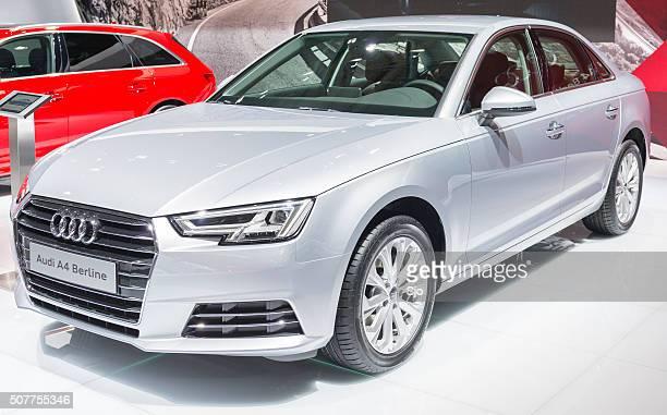 """audi a4 sedan luxury sedan car - """"sjoerd van der wal"""" or """"sjo"""" stock pictures, royalty-free photos & images"""