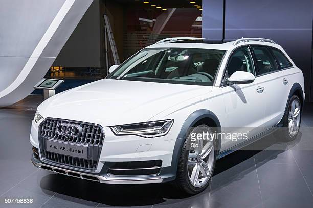 audi a6 allroad quattro crossover estate car - audi a6 stock photos and pictures