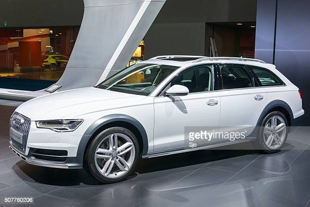 audi a6 allroad quattro crossover estate car - audi a6 avant stock photos and pictures