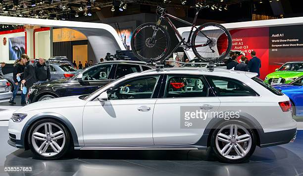 audi a6 allroad quattro luxury estate car - audi a6 stock photos and pictures