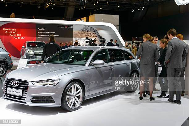audi a6 avant luxury estate car - audi a6 stock photos and pictures