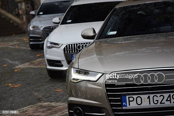 audi a6 in a row - audi a6 stock photos and pictures