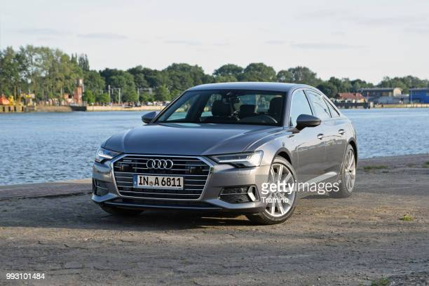 audi a6 on the road - audi a6 stock photos and pictures