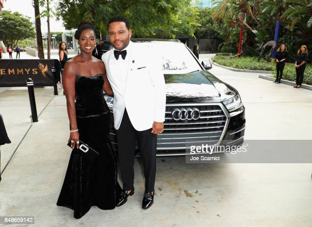 Audi arrivals at the 69th Emmy Awards on September 17 2017 in Los Angeles CA with actor Anthony Anderson and Alvina Stewart