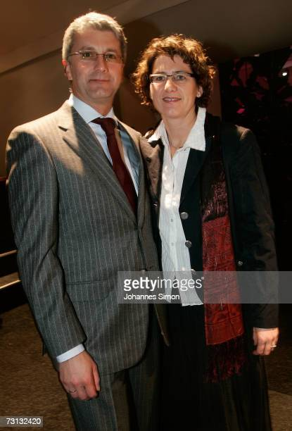 Audi Chairman Rupert Stadler and his wife Angelika attend the Kitzrace Party, January 27 in Kitzbuehel, Austria.