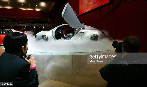 Audi displays a futuristic car used in the soon to be released movie iRobot at a press preview of the 2004 New York International Auto Show April 7...