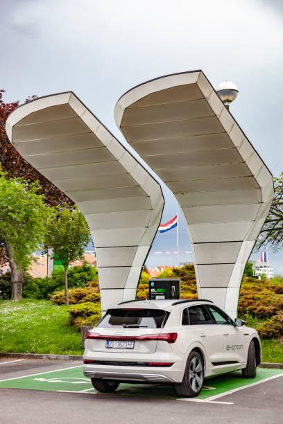 Audi e-tron charging