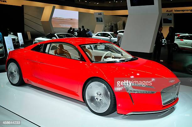 audi e-tron electric sports car concept front view - audi car stock photos and pictures