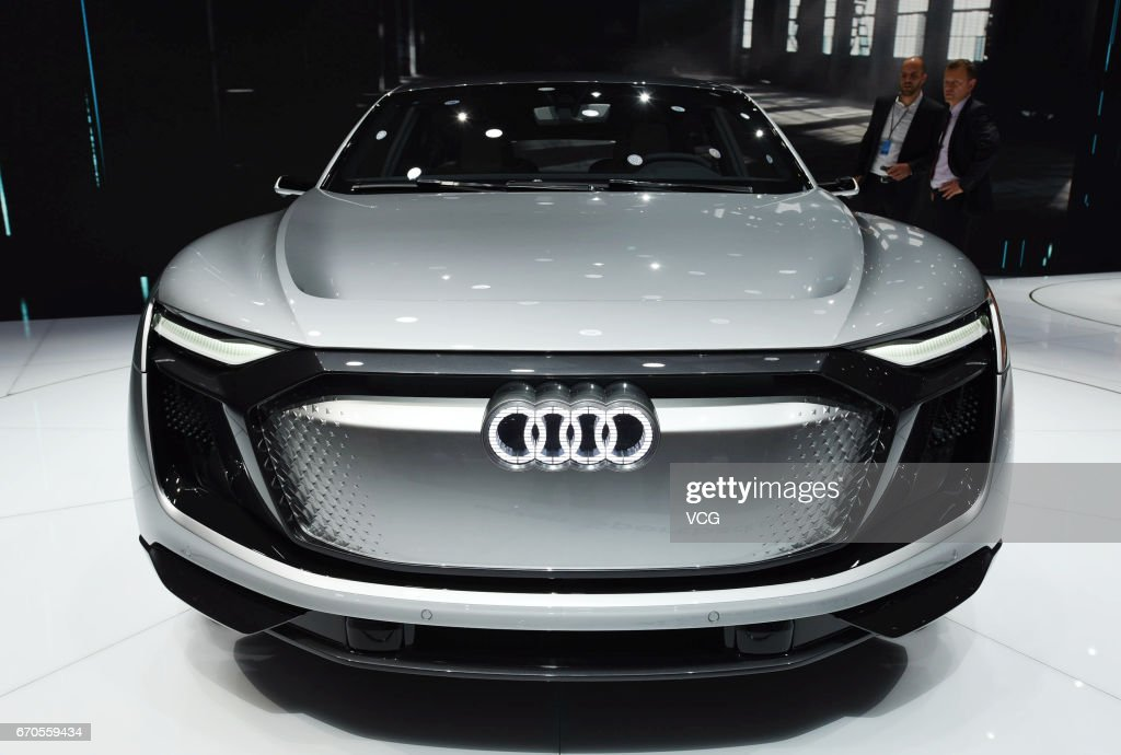 Audi E-tron Sportback Concept Car is exhibited at the booth of National Exhibition and Convention Center ahead of the 17th Shanghai International Automobile Industry Exhibition on April 20, 2017 in Shanghai, China. The 17th Shanghai International Automobile Industry Exhibition will be held at National Exhibition and Convention Center (Shanghai) from April 21 to April 28.