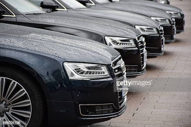 audi limousines in a row - audi stock pictures, royalty-free photos & images