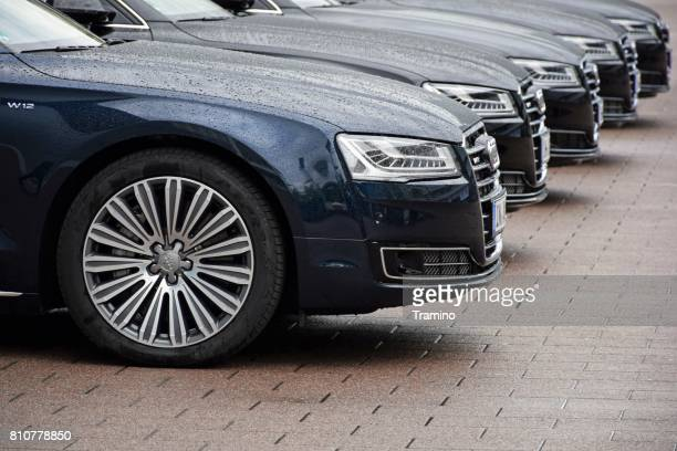 Audi limousines on the parking