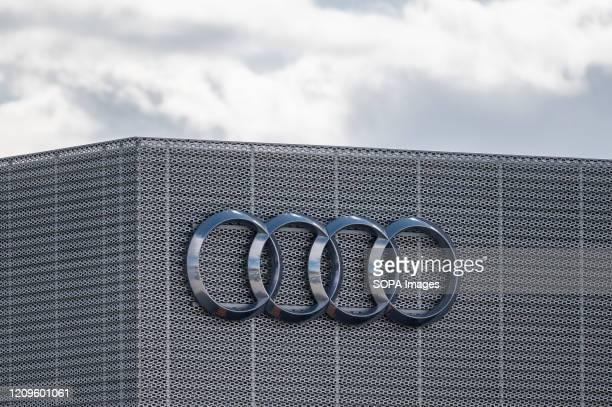 Audi logo in Gdansk