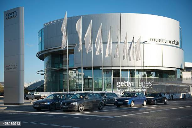 audi museum forum ingolstadt - audi stock pictures, royalty-free photos & images