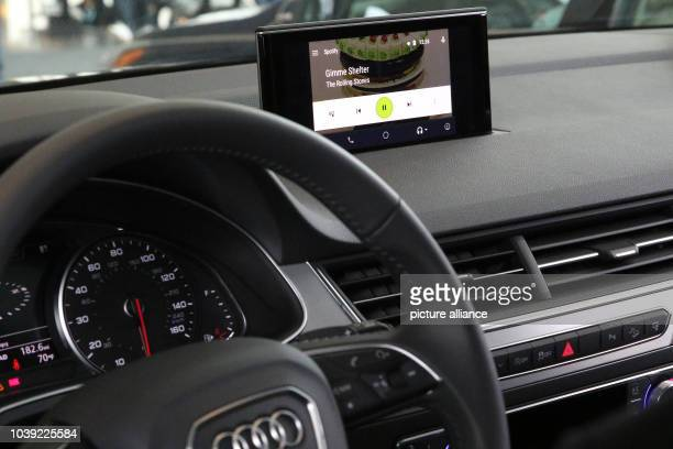 Audi presents its new Q7 with an Android navigation and entertainment system at the Google I/O developer conference inSan Francisco USA 28 May 2015...