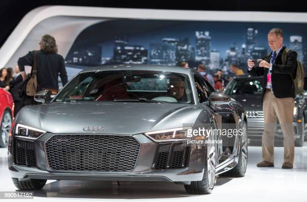 Audi presents the R8 V10 at the Detroit Auto Show 2018 in Detroit, US, 15 January 2018. Photo: Boris Roessler/dpa