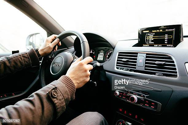 audi q3 interior - modern and luxury vehicle - audi stock pictures, royalty-free photos & images