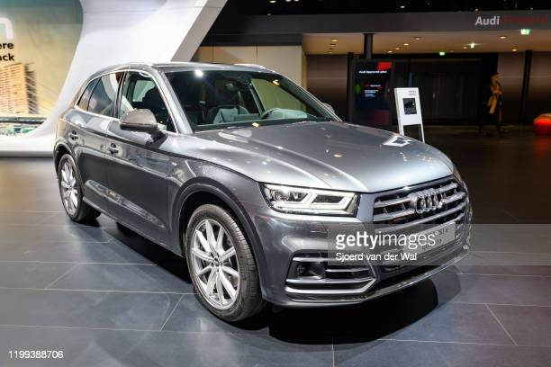 Audi Q5 55 TFSI e qauttro compact luxury SUV on display at Brussels Expo on January 9, 2020 in Brussels, Belgium. The Audi Q5 is available with...