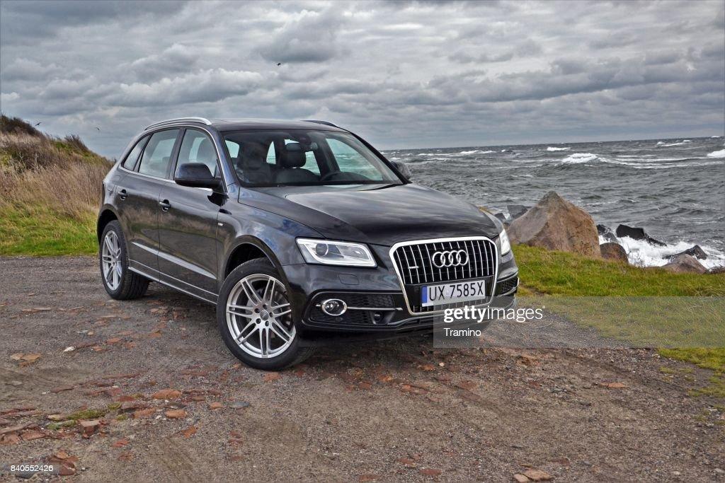 Audi Q5 on the coast : Stock Photo