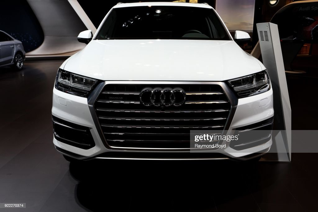 Audi Q7 is on display at the 110th Annual Chicago Auto Show at McCormick Place in Chicago, Illinois on February 9, 2018.