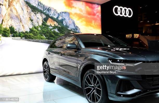 Audi Q8 is on display at the 111th Annual Chicago Auto Show at McCormick Place in Chicago, Illinois on February 7, 2019.