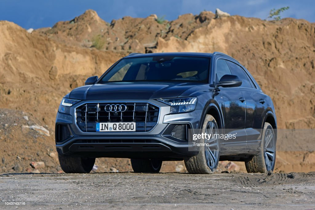 Audi Q8 on the road : Stock Photo