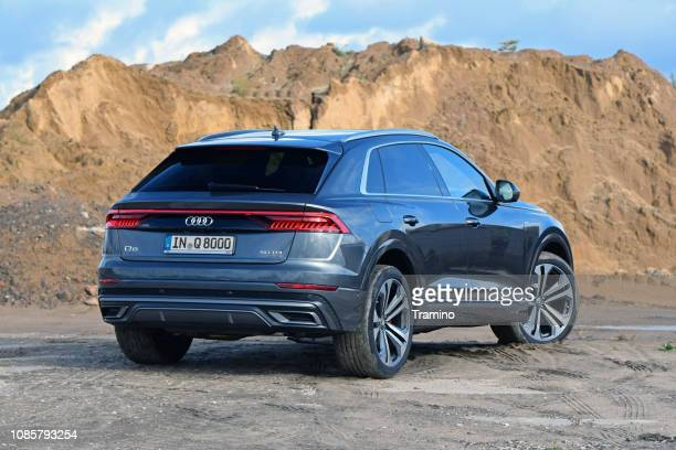 audi q8 on the road - audi stock pictures, royalty-free photos & images