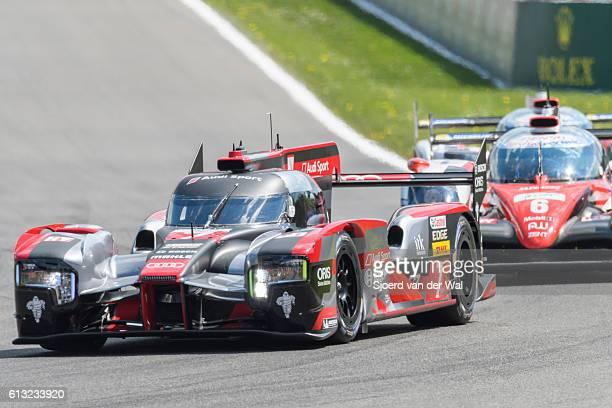 """audi r18 e-tron quattro le mans prototype race car - """"sjoerd van der wal"""" stock pictures, royalty-free photos & images"""