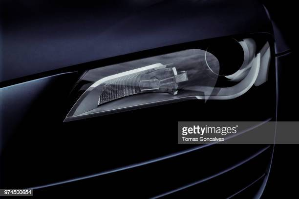 audi r8 - detail - headlight stock pictures, royalty-free photos & images