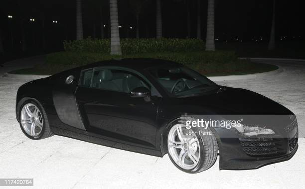 Audi R8 during Donald Trump First To Drive Audi R8 in the US at MaraLago in Palm Beach Flordia United States