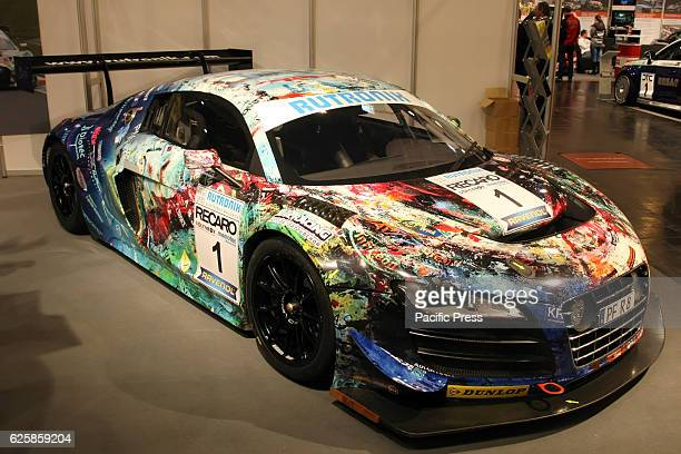 Audi R8 LMS on display at the Essen Motor fair grounds The motor show presents motorcycles cars and tuning parts from over 500 exhibiting companies...