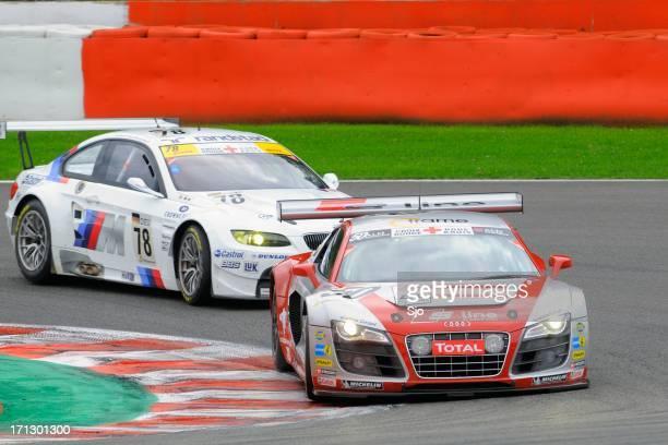 アウディ r 8 lms レースカー - 耐久レース ストックフォトと画像