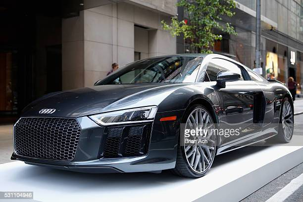 Audi R8 on display during 'Bold Notion Art of Innovation' an immersive exhibition of light and space curated by artist Matthew Schreiber presented by...