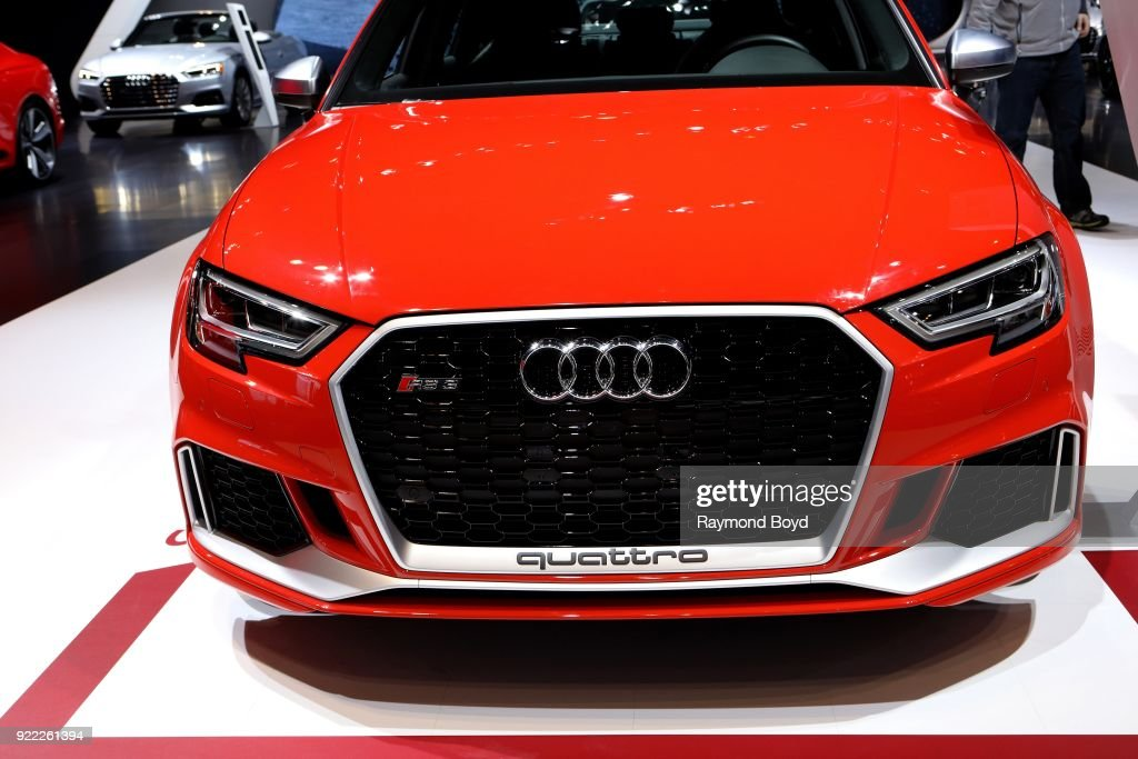 Audi RS 3 is on display at the 110th Annual Chicago Auto Show at McCormick Place in Chicago, Illinois on February 9, 2018.