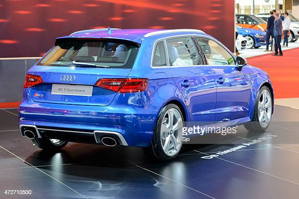 audi rs 3 sportback hatchback performance car rear view - audi car stock photos and pictures