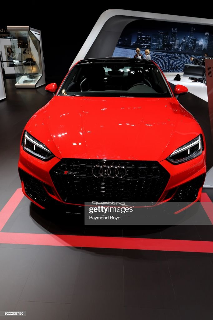 Audi RS 5 is on display at the 110th Annual Chicago Auto Show at McCormick Place in Chicago, Illinois on February 9, 2018.