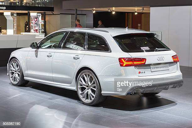 audi rs6 avant high performance estate car - audi a6 stock photos and pictures
