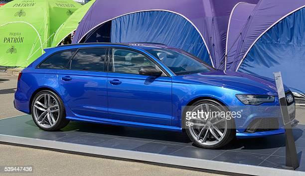 audi rs6 avant high performance estate car - audi a6 avant stock photos and pictures