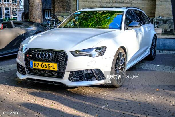 audi rs6 avant performance station wagon sports car car - audi a6 avant stock photos and pictures
