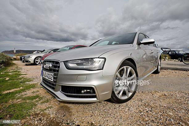 audi s4 avant year 2013 front view - audi a4 stock photos and pictures