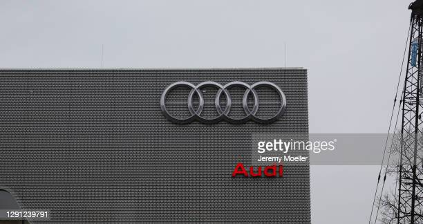 Audi sign is seen on December 14, 2020 in Hamburg, Germany.