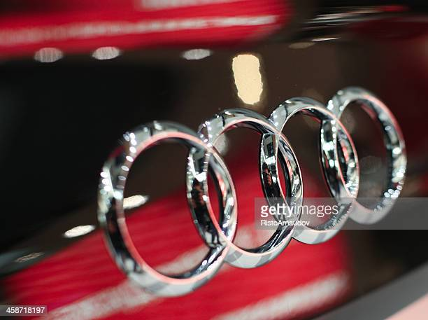 audi sign - audi stock pictures, royalty-free photos & images