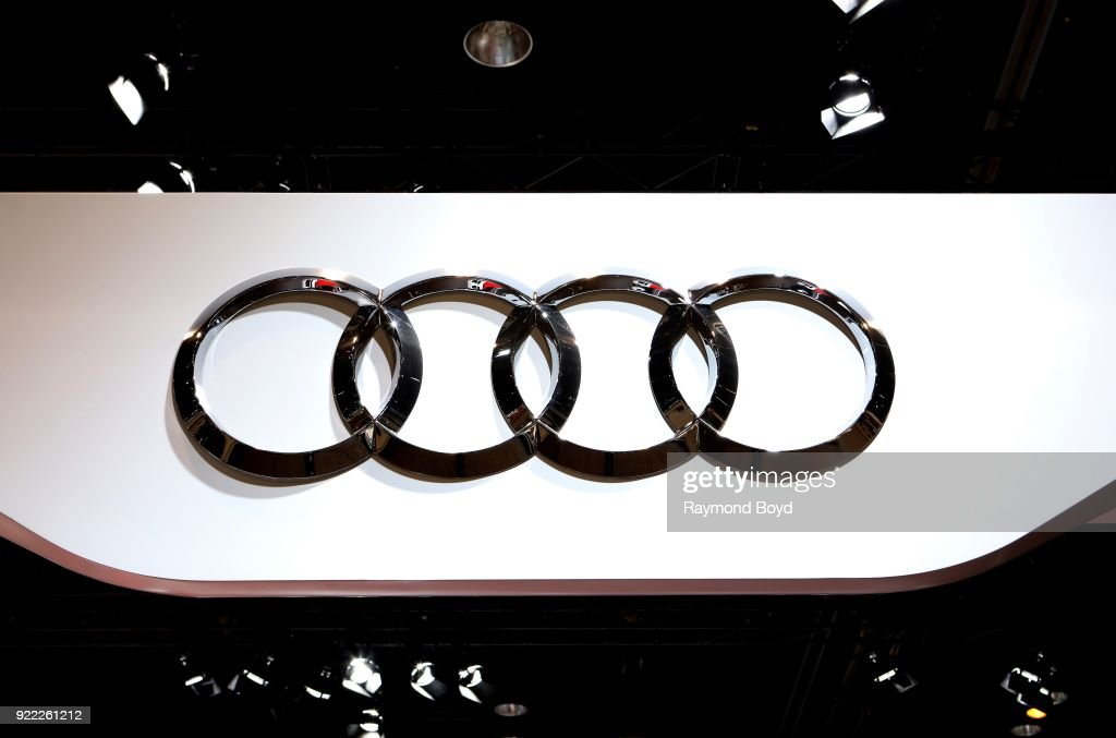 Audi signage is on display at the 110th Annual Chicago Auto Show at McCormick Place in Chicago, Illinois on February 9, 2018.