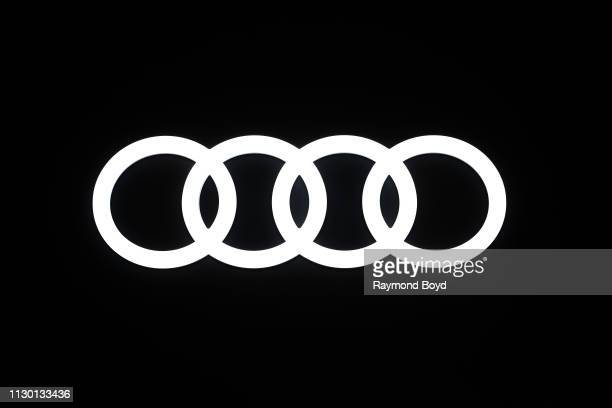 Audi signage is on display at the 111th Annual Chicago Auto Show at McCormick Place in Chicago, Illinois on February 7, 2019.