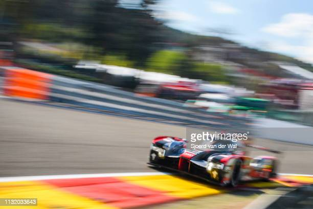 Audi Sport Team Joest R18 etron quattro Le Mans Prototype race car driving on track during the 6 Hours of SpaFrancorchamps race the second round of...