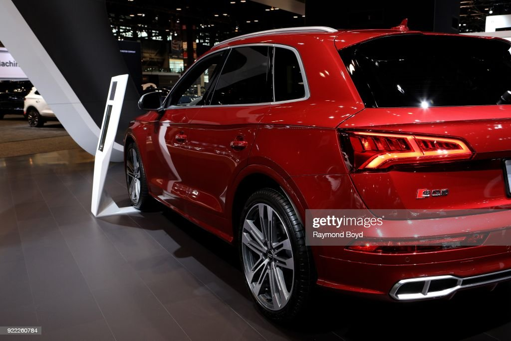 Audi SQ6 is on display at the 110th Annual Chicago Auto Show at McCormick Place in Chicago, Illinois on February 9, 2018.