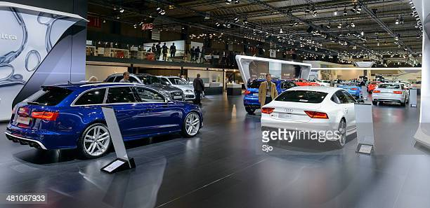 audi stand - audi a6 avant stock photos and pictures