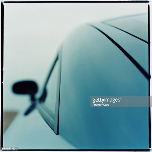 Audi TT 2000 car, rear view (toned B&W)