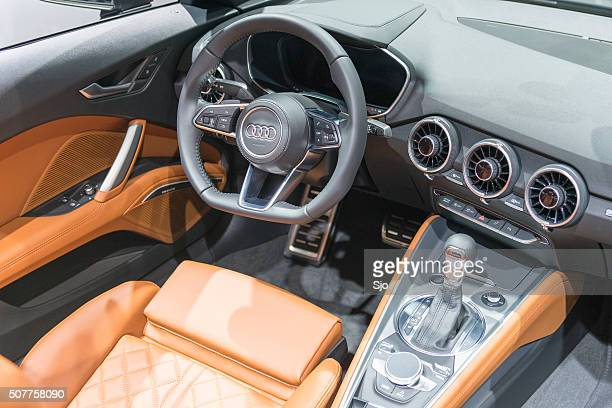 audi tt roadster sports car dashboard - audi stock pictures, royalty-free photos & images
