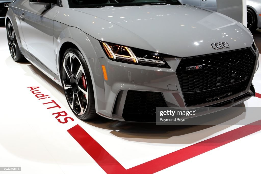 Audi TT RS is on display at the 110th Annual Chicago Auto Show at McCormick Place in Chicago, Illinois on February 9, 2018.
