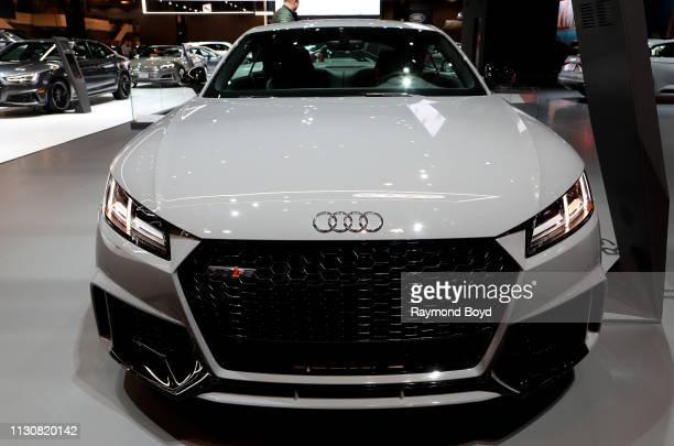 Audi TT RS is on display at the 111th Annual Chicago Auto Show at McCormick Place in Chicago Illinois on February 8 2019